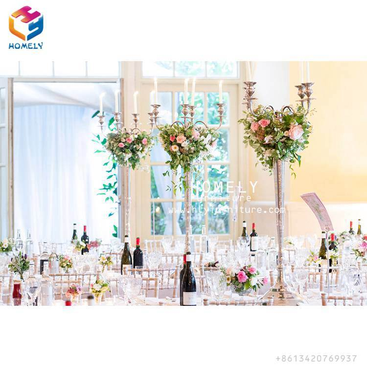 Metal Decoration Table Centerpieces for Hotel Wedding Events