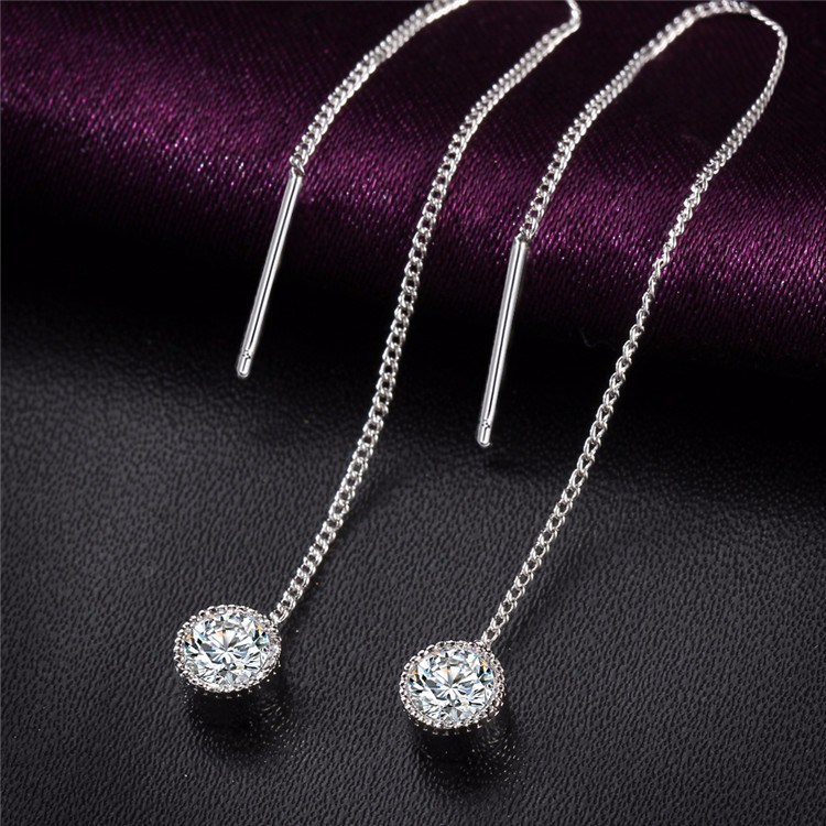 Fashion Crystal Water Drop Earrings for Women Wedding