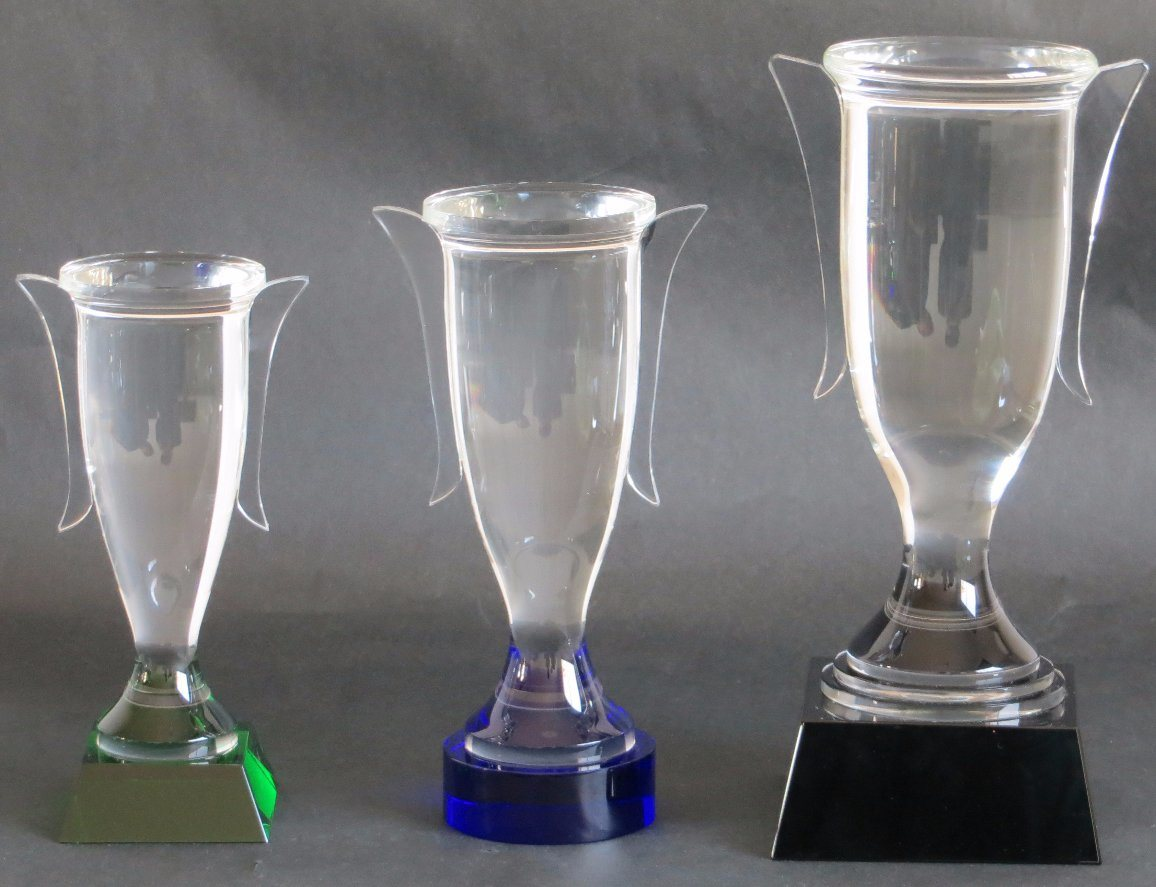 Crystal Trophy with Clear Handles