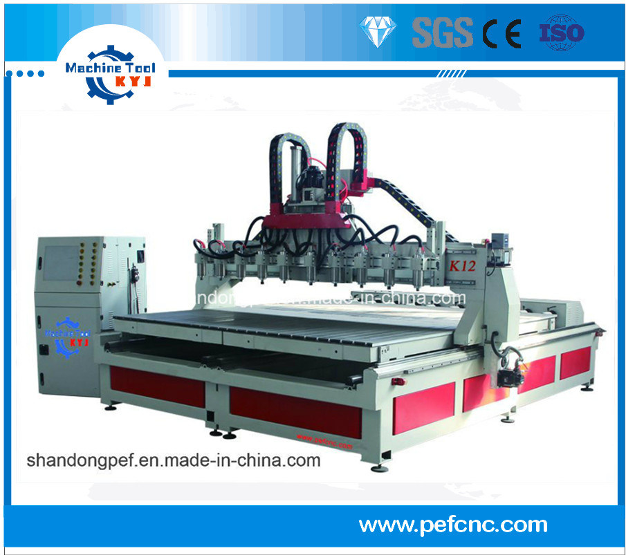 4-Axi Eight Spindle Wood CNC Router for Processing Table Legs