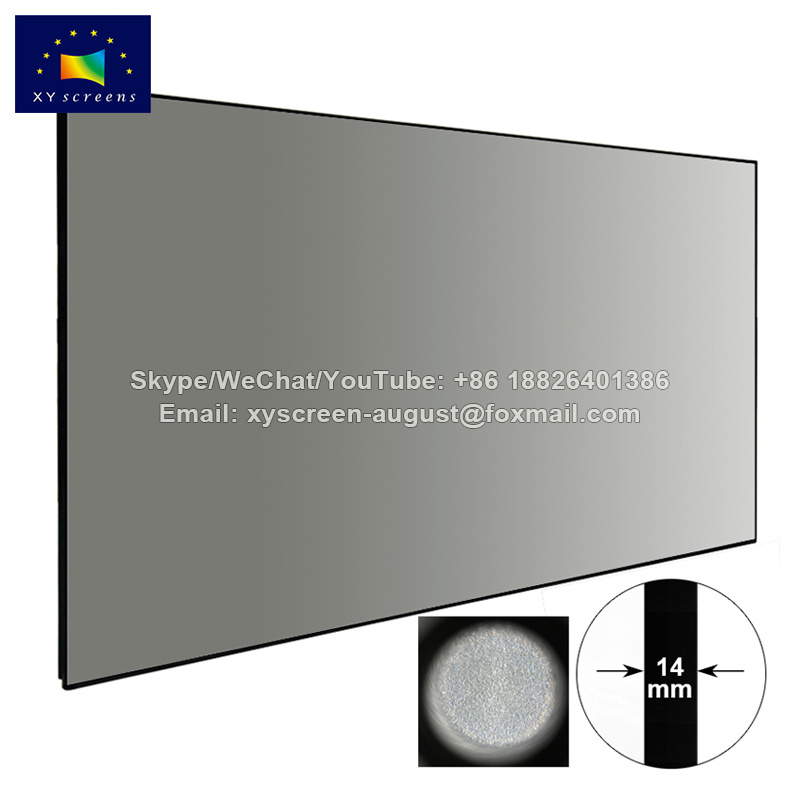 XY Screens Thin Bezel High Gain Ambient Light Rejecting Projector Screen SPHK-Black Crystal HG