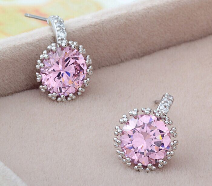 Crystal Jewelry Gold Plated Earrings