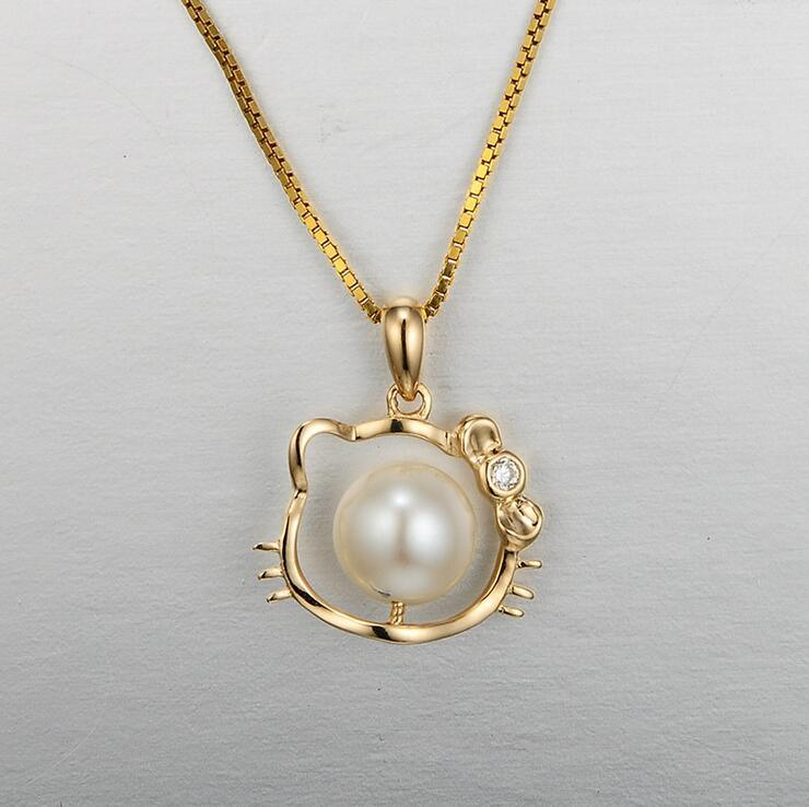 Necklace Fashion Jewelry with Rose Pearl Gold Pendant