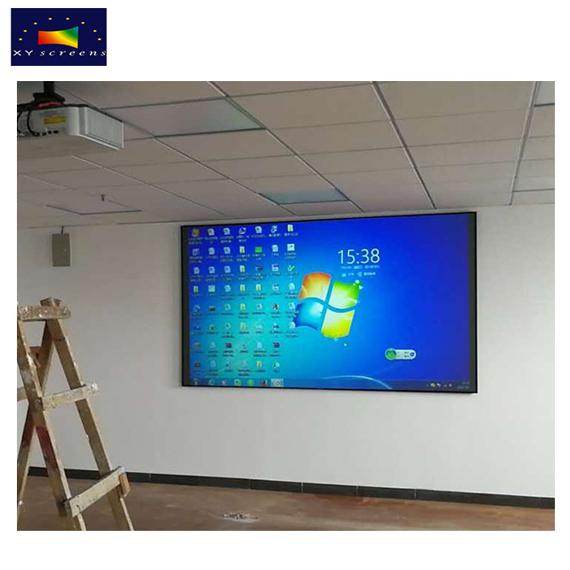 Xy Screens 100 Inch Zhk100b-Black Crystal Ambient Light Rejecting Projector Screen