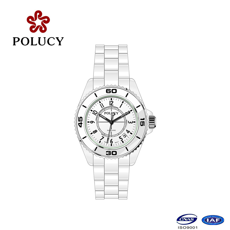 Multi Function Movement 3ATM Leading OEM/ODM Ceramic Watch