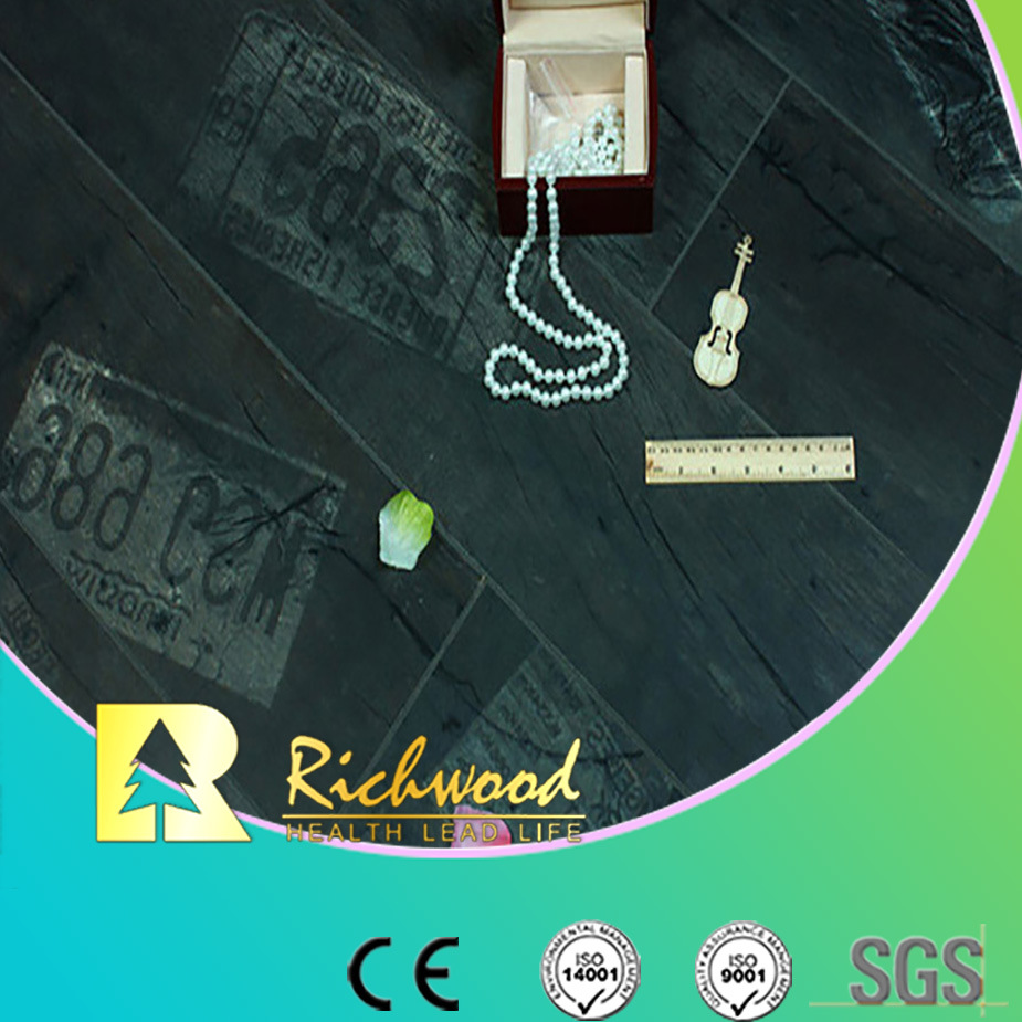 8.3mm E1 HDF AC3 Crystal Walnut Waxed Edged Laminate Flooring