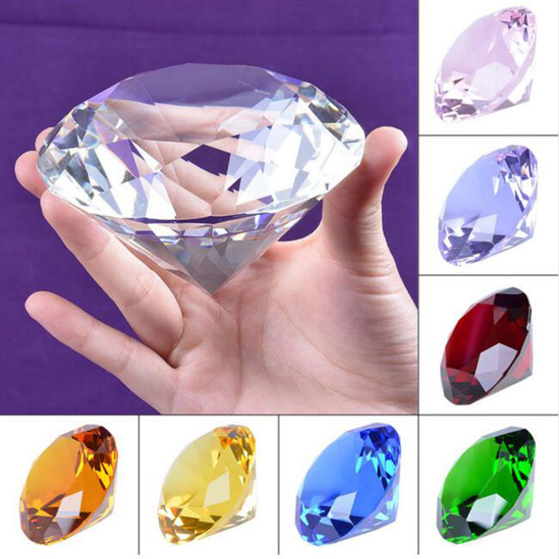 High Quality Multicolor Crystal Diamond Crystal Crafts for Home Wedding Decorative Birthday Gifts Sovenir