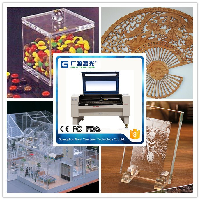 Guangzhou Low Price Laser Cutter for Acrylic MDF Board