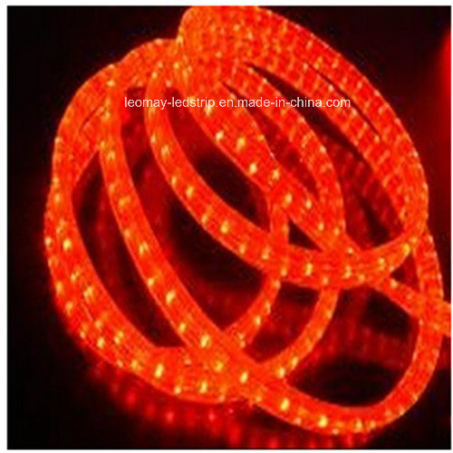 Waterproof (IP65) Red 3 Wire Flat Vertical LED Rope Light CE RoHS