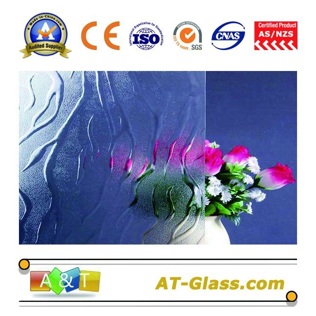 3-8mm Clear Flame Patterned Glass Used for Window, Furniture, etc