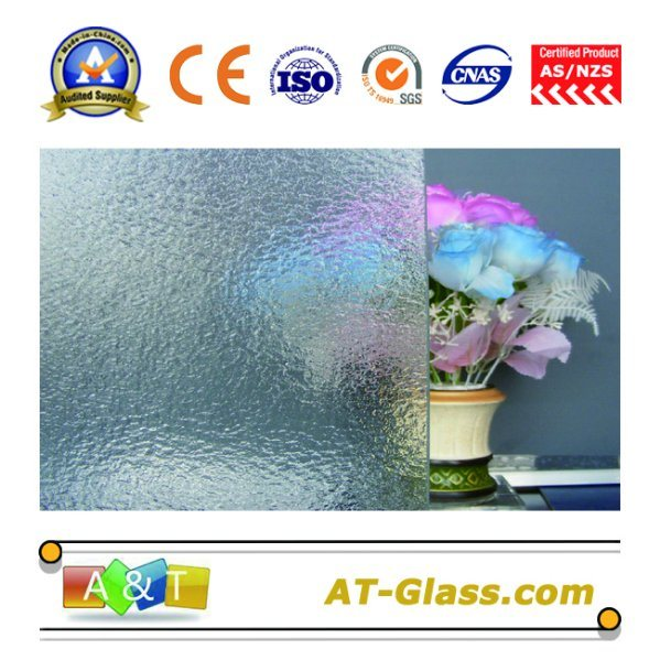 3-8mm Clear Kasumi Patterned Glass Used for Window, Furniture, etc
