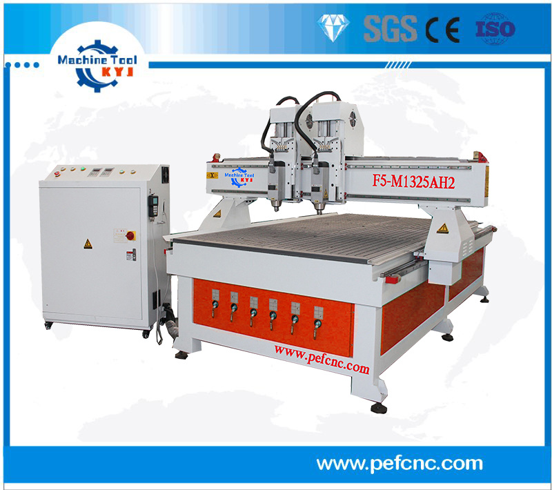 Double Heads Engraving, Milling Wood CNC Router Machine