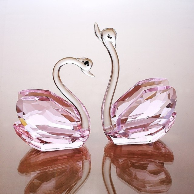 Beautiful Crystal Glass Swan Craft for Gift (ks033)