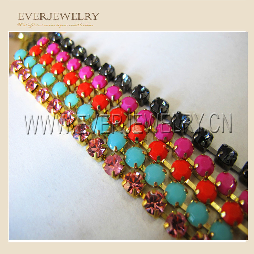 Crystal Rhinestone Cup Chain Decoration for Dress