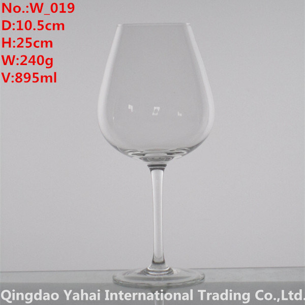 895ml Clear Colored Wine Glass