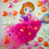 Cartoon DIY Kit Rhinestone Pearl Sticker for Kids