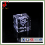 Bright Cube Laser 3D Crystal for Souvenir Gift