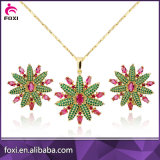 Wholesale Foxi Jewelry Brass CZ Gold Jewelry Sets for Women