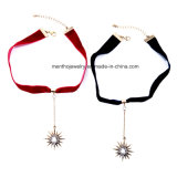 New Fashion Simple Ribbon Star Pendant Women's Pendant Necklace