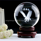 Crystal Transparent Glass Ball with Inner Laser Image