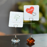 Crystal Memo Card Paper Photo Holder Table Number Holder for Wedding Party