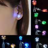 1pair Charm LED Light up Crown Crystal Drop Earring