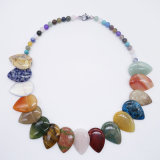 Customize Natural Stone Crystal Gemstone Handmade Women Long Necklace