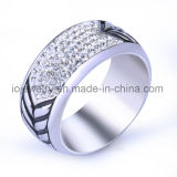 Jewelry Men Crystal Ring Anniversary Gift