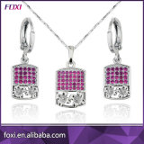 Brass Cubic Zirconia Diamond 18K Gold Jewelry Sets