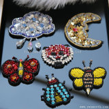 Butterfly Rhinestone Embroidery 3D Patch Sequin Beads Crystal Clothing Accessories