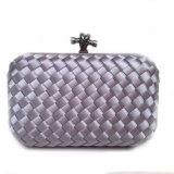 Fashion Handbag Party Bag Woven Box Lady Knot Clutch Bag