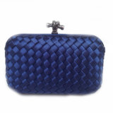 Wholesale New Party Bag Woven Box Lady Knot Clutch Bag