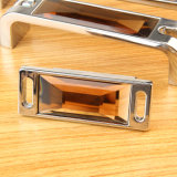 B Style Tea Colour Crystal Mirror Drawer Handle 32mm