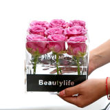 Custom 36 Holes Transparent Acrylic Square Rose Flower Box