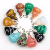 Wholesale Natural Gemstone Quality Crystal Gourd Charms Pendants