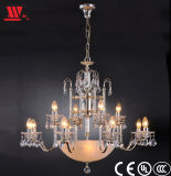 Crystal Chandelier Lighting with Glass Decora...