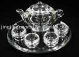 Crystal Tea Cup and Tea Pot Set (JD-CJ-002)