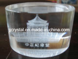 Crystal Glass Laser Engraving Cylinder for Paperweight or Table Decoration