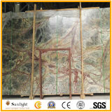 Polished Tropical Rainforest Green Marble for Floor Wall Tiles, Countertops