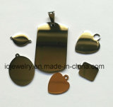 Mirror Polishing Ss Engraving Tags Square Round Heart Oval Shape