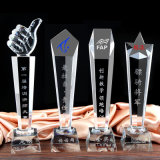 2018 High Quality Glass Crystal Trophy for Business Gift