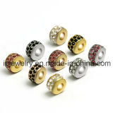 Crystal Pave Jewelry Silver 18K Gold Rose Gold Plated Color Beads