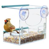 Fashion Clear Acrylic Bird Feeder with Window