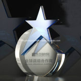 Crystal Trophy Glass Awards with Five Star