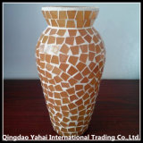 Glass Vase with Colored Glass Paster