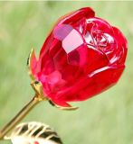 Hot Sale Crystal Crafts Glass Rose Flower