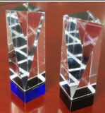 Crystal Diamond Tower Trophy-Blue Base