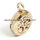 Gold Plated Jewelry Findings Glass Magnet Locket Pendant