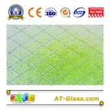 5mm Clear Diamond Wired Patterned Glass for Building Decoration
