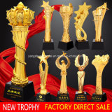 2018 New Metal Resin Trophy Gold Silver Copper Crystal Trophy